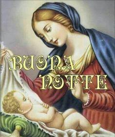 Buonanotte immagini con la Vergine Maria - BuongiornoConGesu.it Good Night Sister, Animated Heart, Mamma Mia, Sweet Dreams, Madonna, Good Morning, Mona Lisa, Disney Characters, Fictional Characters