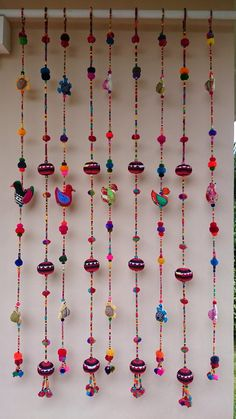 Handmade Cute Doll Beads Curtain For by SET OF LINES) FOR Door Beads Curtain For home decoration your home with Handmade doll this beautiful and colorful PoM PoM accessory. Bohemian Curtains, Home Curtains, Beaded Curtains, Curtains Living, Pom Pom Crafts, Yarn Crafts, Boho Diy, Boho Decor, Diy Home Crafts