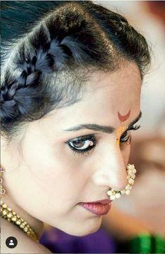 Marathi Nath, Marathi Wedding, Faces, Earrings, Fashion, Ear Rings, Moda, Stud Earrings, Fashion Styles