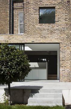 Brick + Tile Exterior Gray Paint, Exterior House Siding, Exterior Stairs, Exterior Front Doors, Exterior Cladding, Exterior House Colors, Exterior Design, Exterior Shutters, Brick Ranch