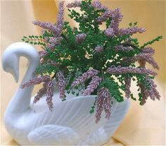 Lilac branch made from beads tutorial