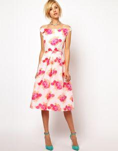 Fluro Jaquard Dress