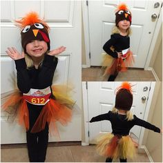 Made extra Turkey Trot outfits for the run this morning - here's lil miss Audrina in hers isn't she just a cutie :) made few more for other family members but Shannon chickened out since it was gonna be raining lol by runannie