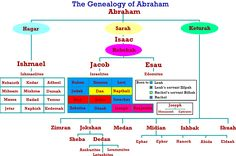 Genealogy Of Abraham's Chart - Abraham's Family Tree Bible Family Tree, Family Trees, E Bible, Hebrew Bible, Bible Scriptures, Bible Quotes, Father Abraham, Sons Of Jacob, Abraham And Sarah