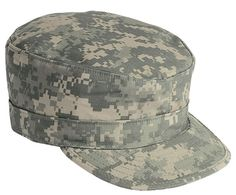 ARMY PATROL CAP Military Fitted Hat SKY Blue Camouflage SIZES XS,S,M,L,XL