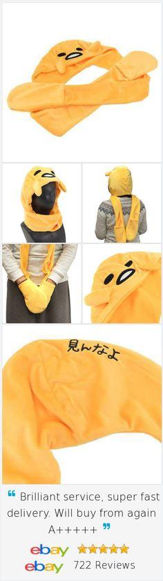 Sanrio ❤ Gudetama Hood Muffler Hand Warmer The Cutest Lazy Egg Kawaii Item Japan