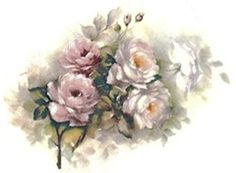 """9678 Roseland Roses Waterslide Ceramic Decals By The Sheet (1 3/4"""" X 1 1/4"""" * 66 pcs)"""