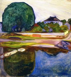 Edvard Munch (1863-1944) - Kiøsterudgärden, 1902-03, oil on canvas, 100 x 95 cm, Private collection source : http://www.the-athenaeum.org/