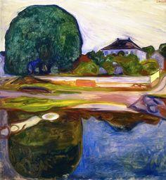 Edvard Munch (1863-1944) - Kiøsterudgärden, 1902-03, oil on canvas, 100 x 95 cm, Private collection source : http://www.the-athenaeum.org/
