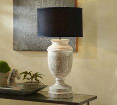 Black Straight Sided Linen Drum Lamp Shade   Pottery Barn
