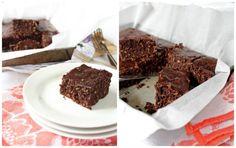 Coconut Brownies (coconut oil, coconut sugar, coconut flour, honey, vanilla, shredded coconut, cacao, eggs, salt)
