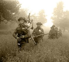 """""""What did you do in the war? (Led by their piper, men of Seaforth Highlanders, (Scottish) Division advance during Operation 'Epsom' in Normandy, 26 June Canadian Soldiers, British Soldier, British Army, Canadian Army, Omaha Beach, Highlanders, D Day, Military History, World War Ii"""