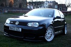 "Mk4 Golf R32 in Moonlight blue with Genuine BBS LMs 19x8.5"" and Falken 215/35 ZRs :)"