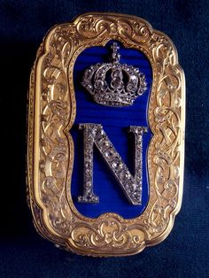 Snuffbox Given to Joseph Francis  This golden snuffbox mounted with diamonds in the shape of a crown atop the letter N was presented to Joseph Francis by Emperor Napoleon III of France on 4 February 1856. It was presented to Francis for his lifesaving inventions, which had saved the lives of many French citizens.