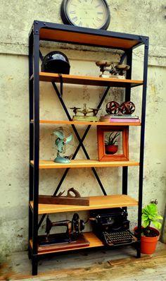 BIBLIOTECA ESTILO INDUSTRIAL HIERRO Y MADERA Types Of Ceramics, Best Soap, Flagstone, Ladder Bookcase, Porcelain Ceramics, Cleaning Wipes, Tiles, Carpet, Pottery
