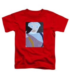 Patrick Francis Red Designer Toddler T-Shirt featuring the painting Portrait Of A Lady 2014 by Patrick Francis