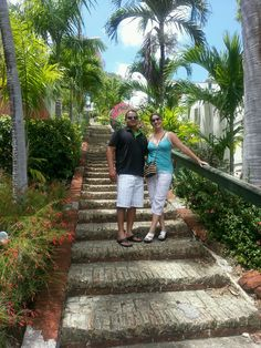 Stairs to Blackbeards castle in St Thomas
