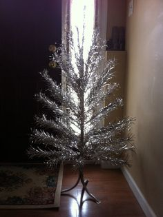 Sparkler aluminum Chrismas tree 4ft by Mad4ModMalissa on Etsy