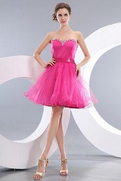 Tulle A-Ligne De Robes De Bal Rose rs0989 - Tissu: Tulle, Décolleté: Sweetheart; Silhouette: Une Ligne-; Fermeture: Lacets - Price: 161.9900 - Link: http://www.robesoirees.com/tulle-a-ligne-de-robes-de-bal-rose-rs0989.html