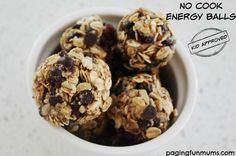 No Cook Energy Balls. A delicious & nutritious snack that's easy to make and kids love!