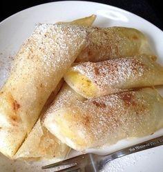トロッとしたバナナの甘みとマスカルポーネのナチュラルな甘みがベストマッチング。 春巻きの皮で作ったとは思えない、上品なスイーツに仕上がります。