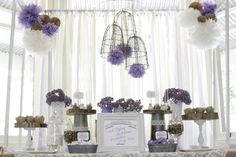 Little Big Company | The Blog: Purple, Chocolate and Cream Dessert Table by Paper & Style Co