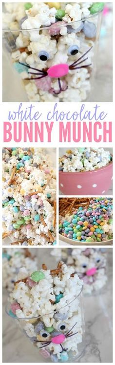 I love this great recipe for this super yummy White Chocolate Bunny Munch! This is the perfect snack for Easter for the kids and adults in your whole family, so be sure to give it a try this year (Chocolate Party Kids) Easter Snacks, Easter Treats, Easter Recipes, Easter Food, Easter Appetizers, Easter Stuff, Easter Dinner, Easter Brunch, Easter Party
