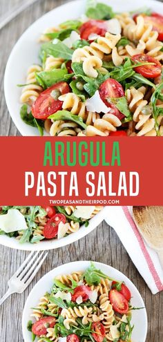 This healthy whole wheat Arugula Pasta Salad is one of our go-to salads for parties and quick weeknight dinners. Made in less than 20 minutes, this healthy arugula pasta salad for dinner is so flavorful with lemon olive oil dressing. So simple and easy! Lemon Pasta Salads, Healthy Pasta Salad, Healthy Pastas, Pesto Pasta, Green Olive Pasta Salad, Spinach Pasta, Shrimp Pasta, Healthy Food, Green Salad Recipes