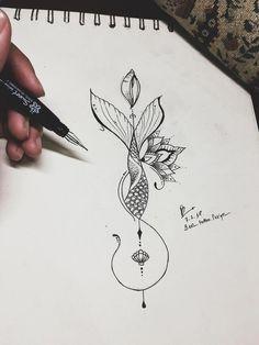 Flower Tattoo Drawings, Small Flower Tattoos, Tattoo Design Drawings, Small Tattoos, Drawing Tattoos, Drawing Flowers, Mandala Flower Tattoos, Tattoo Flowers, Mandala Tattoo Design