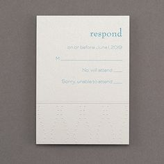 response cards and envelopes