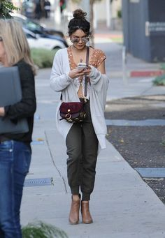 Vanessa Hudgens Sports Pants - Vanessa Hudgens teamed her top with a pair of sporty pants.