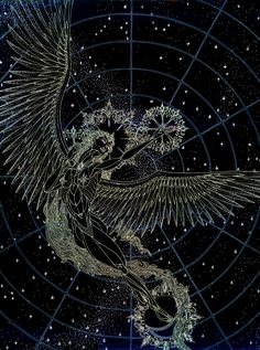 Sharareh -Prayers to the Night by Lakandiwa on DeviantArt Japon Illustration, Ceiling Murals, To Infinity And Beyond, Ravenclaw, Stargazing, Celestial, Traditional Art, Cosmos, Dark Art