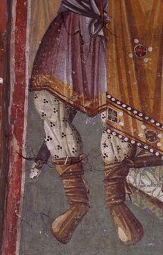 Medieval church or Privlepta, Ohrid, Macedonia Byzantine Icons, Macedonia, Fresco, Medieval, Halo, Textiles, Tutorials, Painting, Decorations