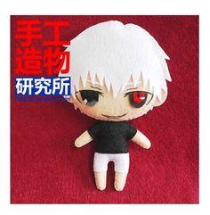 Japanese Anime Tokyo Ghoul Kaneki Ken Costume Cute DIY Toy Doll New Material $15.78