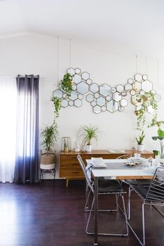 Love! Love! Love the mirror/mural  (Ryan + Jasmin Home Tour) | westelm