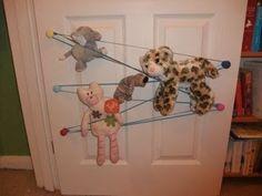 cool soft toy storage idea