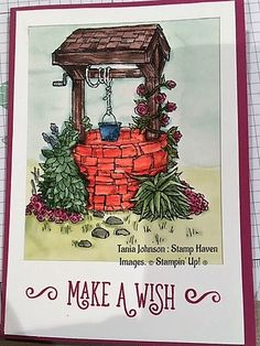 Tania Johnson : Stamp Haven: 2017, Bright Wishes, 2017 - 2018 Annual Catalogue, Stampin' Up! #wishing well, #watercolour
