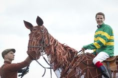 Fran Berry rides 'Joey' from War Horse after winning the War Horse At The Curragh Raceday The Curragh