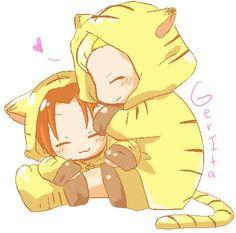 Gerita >///< cuddles~!