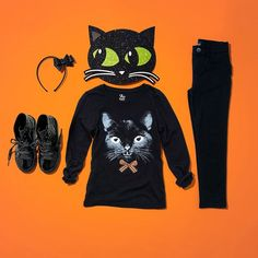 Don't worry—our black cat is good luck! #DIY #HalloweenCostume #girlsfashion