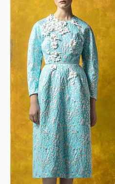 Long Sleeve Embellished Short Dress by DELPOZO for Preorder on Moda Operandi