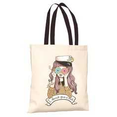 Donut Girl Tote Bag   Valfré #ValfreWishList