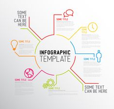 Vector Company infographic overview design template with thin line icons Web Design, Website Design, Vector Design, Design Trends, Cv Photoshop, Intranet Design, Plakat Design, Information Design, Information Poster