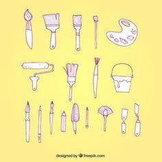 Hand drawn painter tools