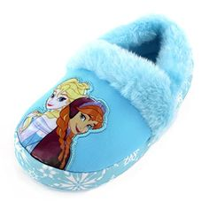 Light Blue/Multi Officially licensed Disney Frozen footwear Soft plush uppers for expected warmth; textured sole for safety Blue Slippers, Fuzzy Slippers, Kids Slippers, Frozen Elsa And Anna, Disney Frozen Elsa, Kids Clothes Sale, Cute Baby Clothes, Frozen Dolls, Toddler Girl Gifts