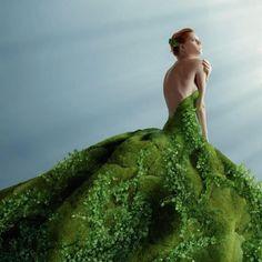 Natural green dress