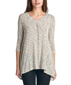 Look at this #zulilyfind! Mocha Scratch-Stripe Tunic - Plus by A La Tzarina #zulilyfinds