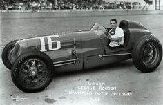 Indy 500 winner 1946: George Robson  Starting Position: 15  Race Time: 4:21:16.700  Chassis/engine: Adams/Sparks