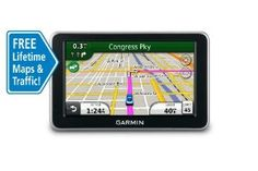 Garmin nüvi 2350LMT 4.3-Inch Widescreen Portable GPS Navigator with Lifetime Traffic & Map Updates by Garmin. $97.99. Amazon.com                The widescreen nüvi 2350LMT comes with free lifetime traffic and maps for the U.S., Canada and Mexico. It also includes lane assist with junction view*, trafficTrends historical traffic, myTrends predictive routing and ecoRoute. Pedestrian capabilities can be enhanced with optional cityXplorer maps for mass transit i...