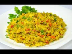 Reteta Orez oriental cu pui - reteta video | JamilaCuisine Romanian Food, Romanian Recipes, Asian Recipes, Ethnic Recipes, Party Dishes, Vegetable Recipes, Fried Rice, Risotto, Food To Make